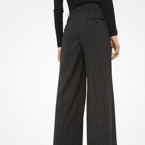 Michael Kors italy trousers high rise stripe wool
